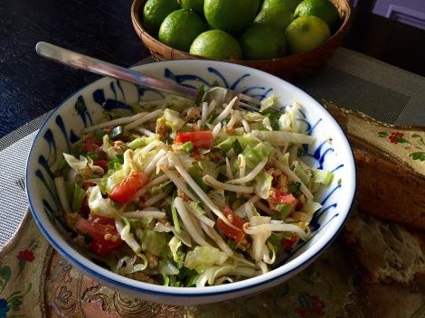 Salade de tofu et pousses de soja