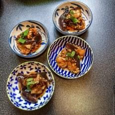 En portion individuelles pour un repas japonais ou une entrée
